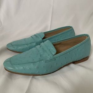 UO Blue leather flats